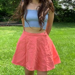 American Apparel Coral Circle Skirt Denim